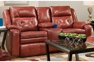 Inspire Leather Reclining Loveseat
