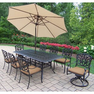 Bosch 9 Piece Dining set with Sunbrella Cushions by Darby Home Co