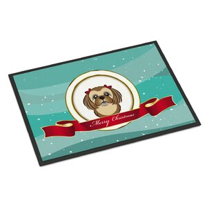 Shih Tzu Merry Christmas Doormat