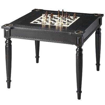 """36"""" Ramona Chess & Backgammon Table Darby Home Co Finish: Black"""