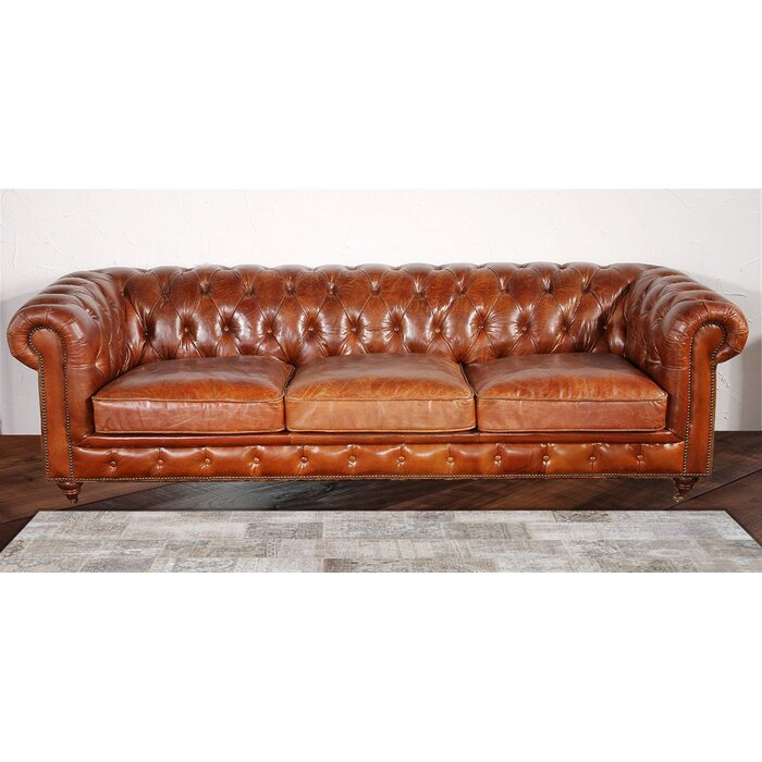 Exceptional Chester Bay Genuine Leather Chesterfield Sofa