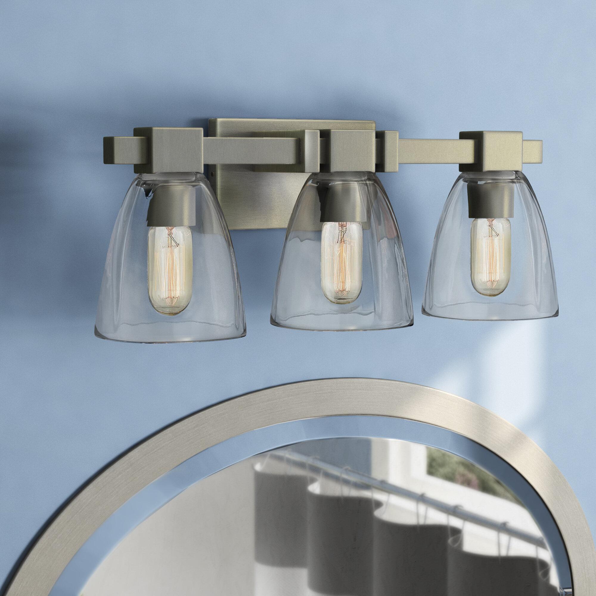 Wrought Studio Weehawken Modern 3 Light Vanity Light Reviews Wayfair