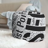 Districts Word Art Pouf by East Urban Home