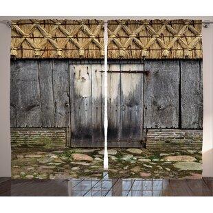 Birge Fantasy World Graphic Print and Text Semi-Sheer Rod Pocket Curtain Panels (Set of 2) by Latitude Run