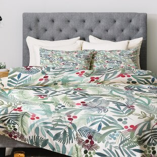 East Urban Home Dash and Ash Ferns and Holly Comforter Set