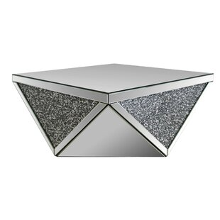 Affordable Ayala Square Mirrored Top Coffee Table by House of Hampton