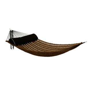 Sandy Teak Oil Double Hammock by Bay Isle Home