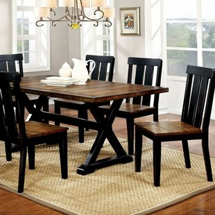 Weiler Transitional Plank Dining Table Millwood Pines