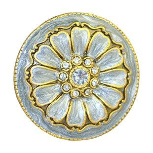 Handpainted Cloisonne Jewel Mushroom Knob (Set of 4)