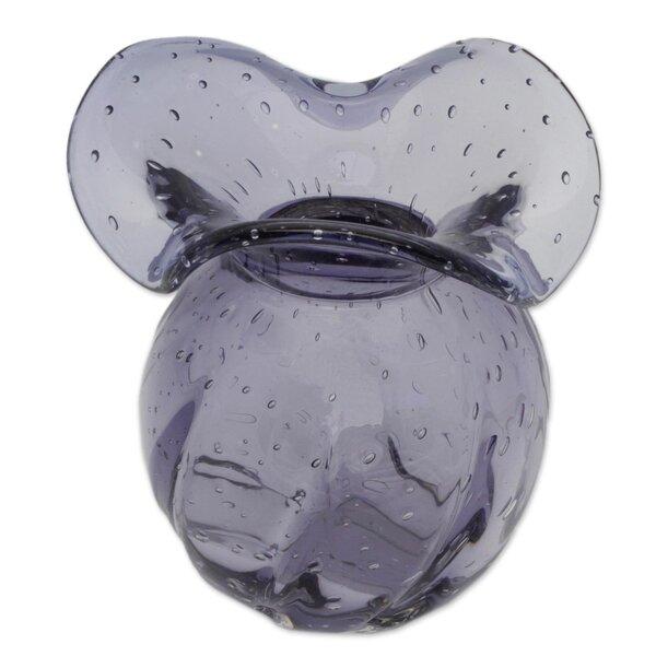 Wrought Studio Pratolina Rain Decorative Art Glass Table Vase Wayfair