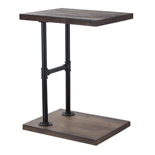 Delicia Decor Furniture Wood and Metal C Style End Table