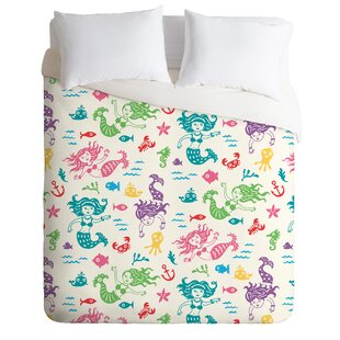East Urban Home Merry Mermaids Duvet Cover Set
