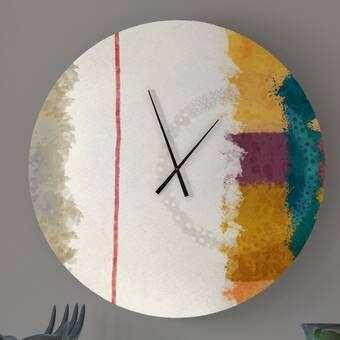 Latitude Run Unequalled Abstract Metal Wall Clock Wayfair