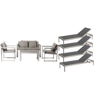 Rosecliff Heights Hampshire 8 Piece Sofa Set with Cushions