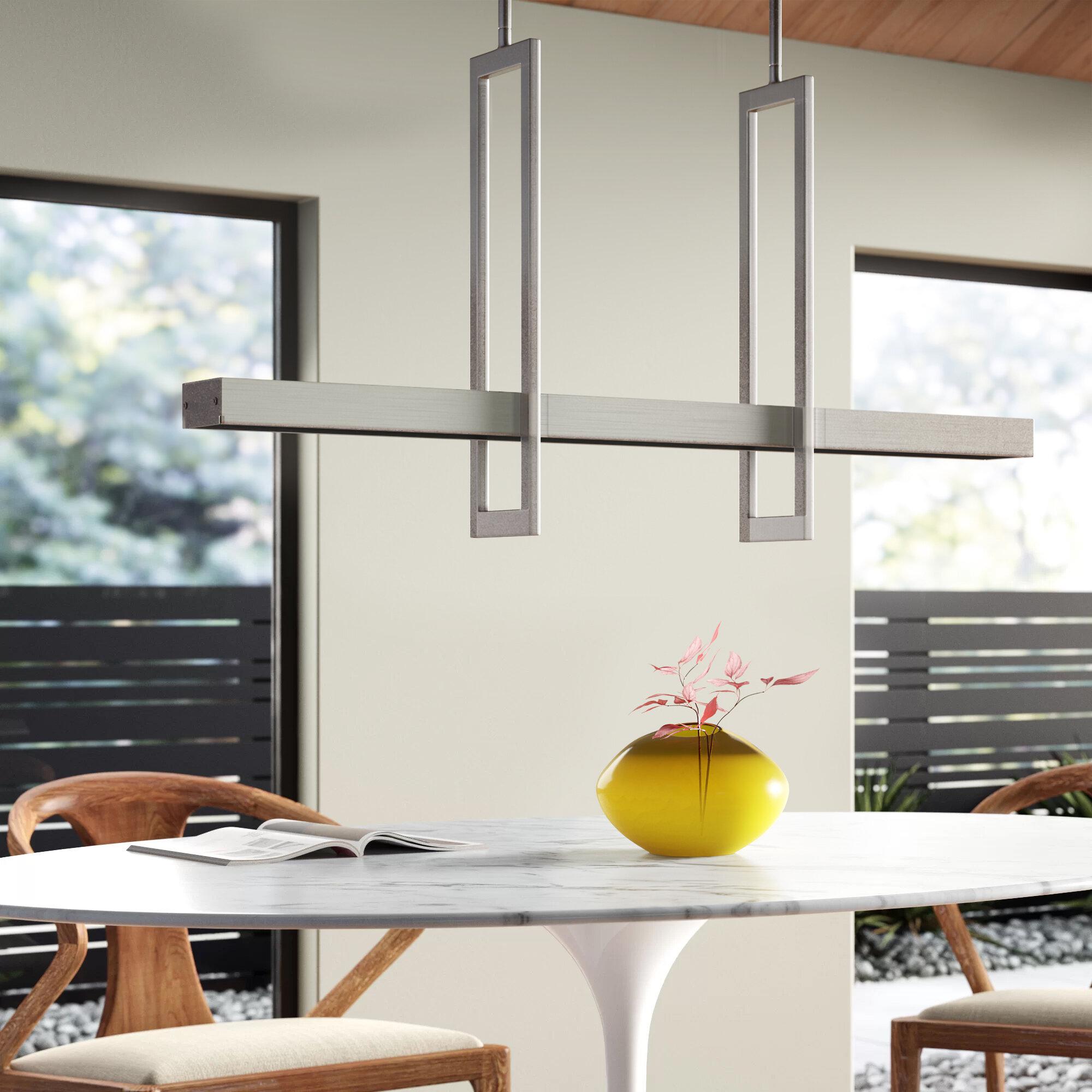 Image of: Kaitlynn 2 Light Kitchen Island Geometric Led Pendant Reviews Allmodern