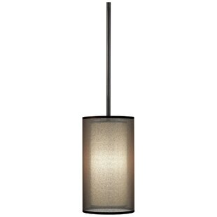 Brayden Studio Kellems 1-Light Cylinder Pendant