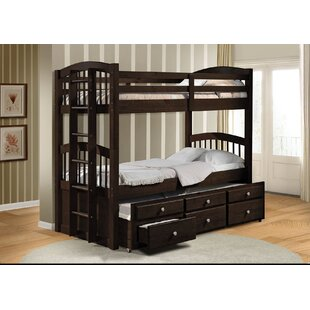 Artis Twin Over Twin Bunk Bed With 3 Drawers by Harriet Bee Great price