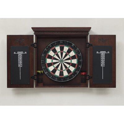 American Heritage Cavalier Dart Board Cabinet Set
