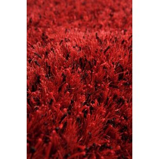 Compare prices Silk Hand-Woven Red/Black Area Rug ByWildon Home ®
