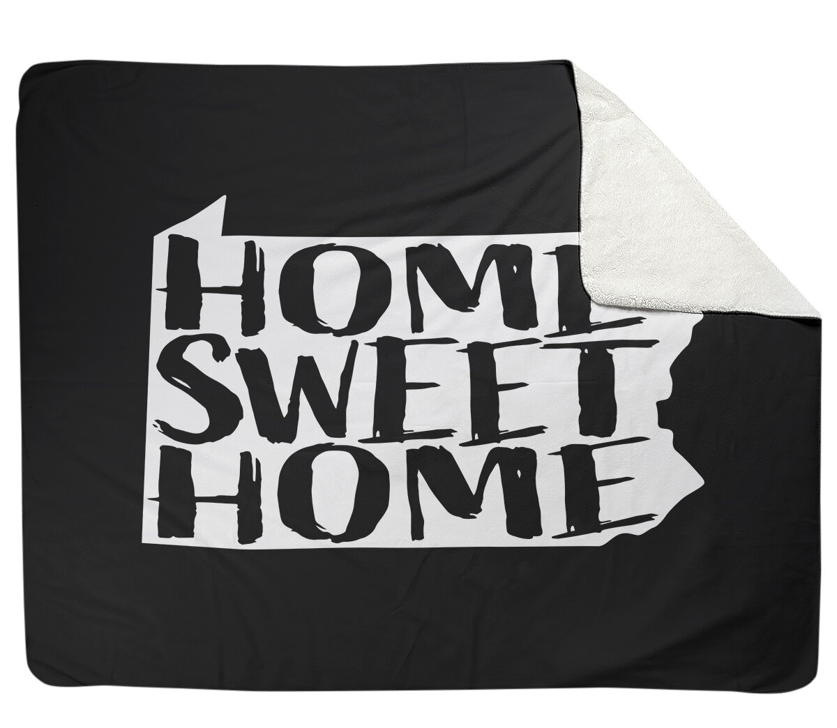 East Urban Home Home Sweet Pennsylvania Fleece Throw Wayfair