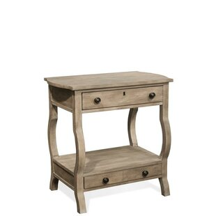 One Allium Way Allred 2 Drawer Nightstand