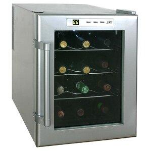 12 Bottle Single Zone Freestanding Wine Cooler by Sunpentown