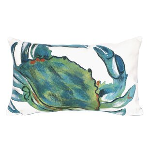 Bluffs Blue Crab Lumbar Pillow