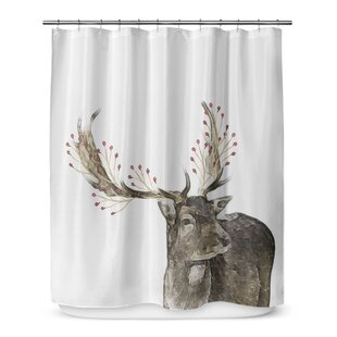 Berry Deer 72 Shower Curtain By KAVKA DESIGNS