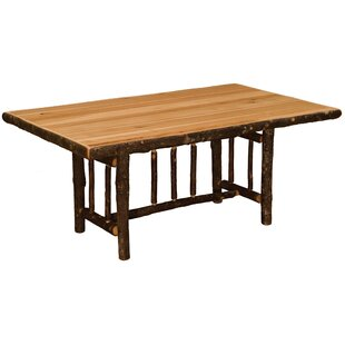 Hickory Rectangle Solid Wood Dining Table by Fireside Lodge