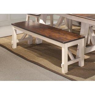 August Grove Keturah Farmhouse Solid Wood Bench