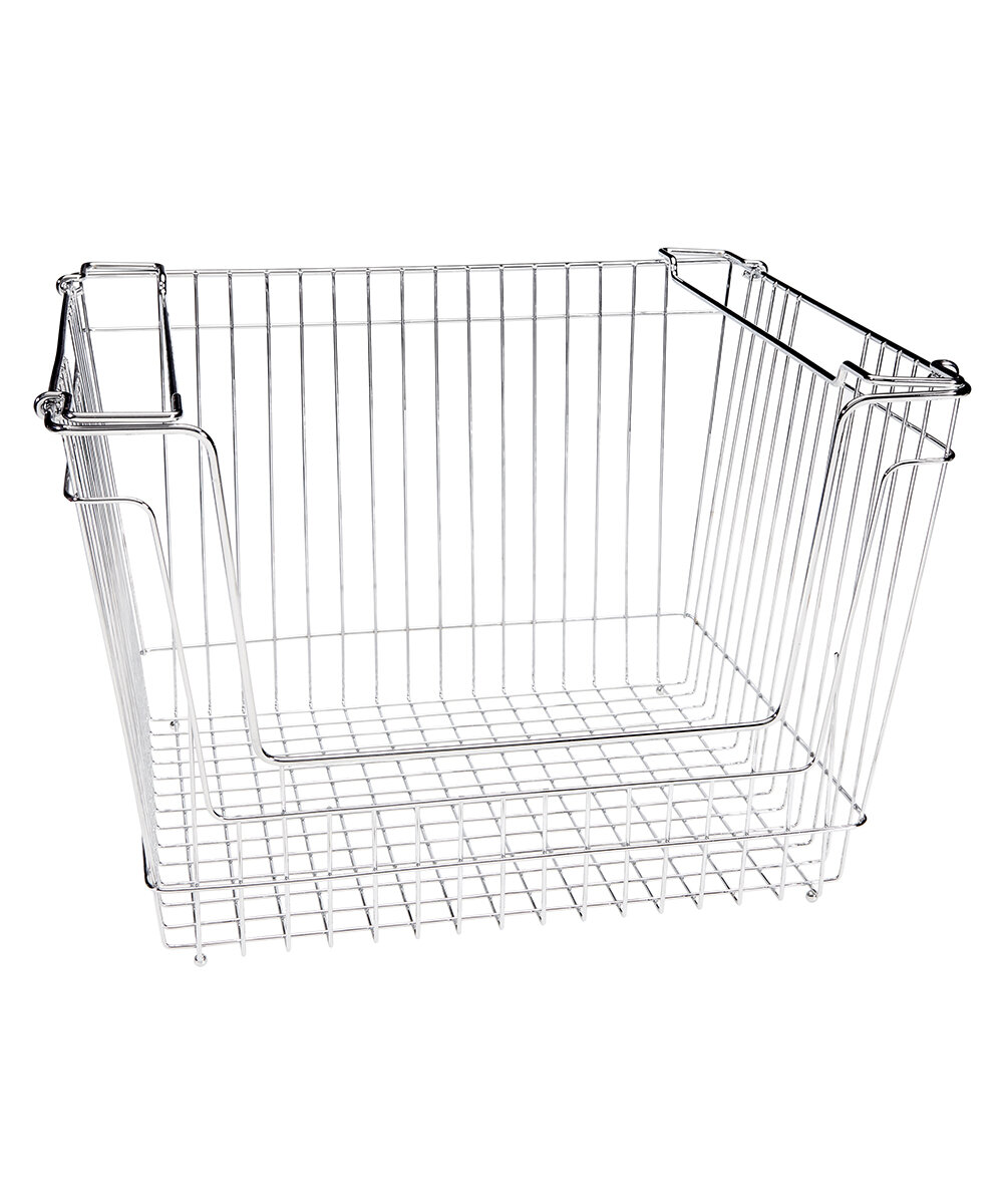 Simplify Stackable Extra Large Storage Wire Basket & Reviews | Wayfair
