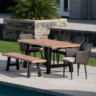 Jack 6 Piece Dining Set with Cushions