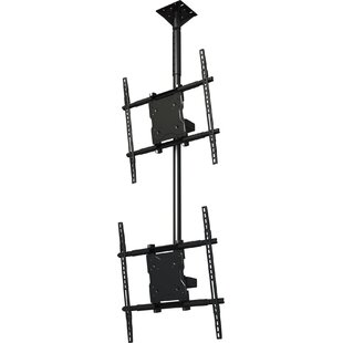 Dual Screen Tilt Universal Ceiling Mount for 37