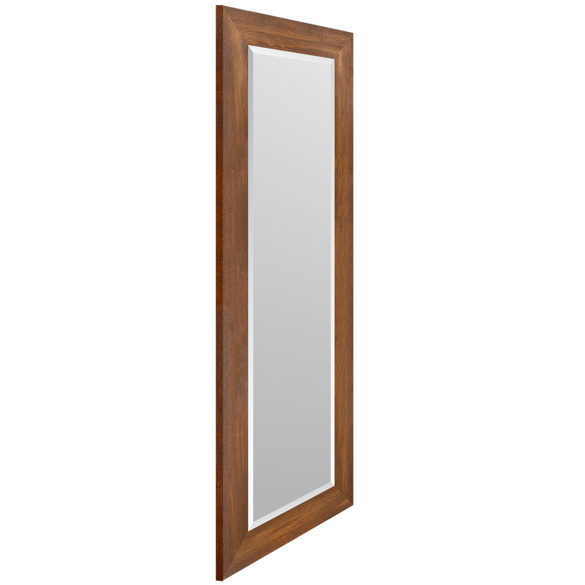 Gracie Oaks Hipolito Woodgrain Framed Beveled Full Length Mirror Reviews Wayfair