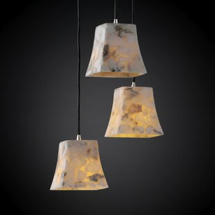 Salsbury 3 Light Cluster Pendant by Rosecliff Heights