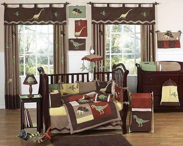 Sweet Jojo Designs Dinosaur Land 9 Piece Crib Bedding Set Reviews Wayfair