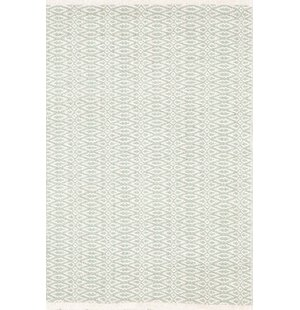 Fair Isle Hand Woven Green/White Area Rug By Dash and Albert Rugs