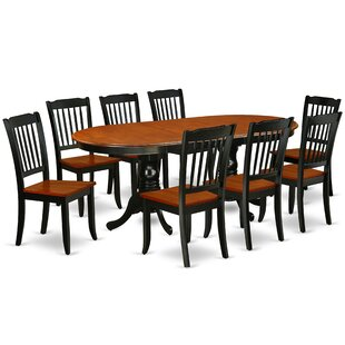 Raulston 9 Piece Extendable Solid Wood Dining Set