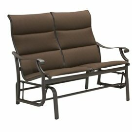 Tropitone Montreux Padded Sling Glider Bench