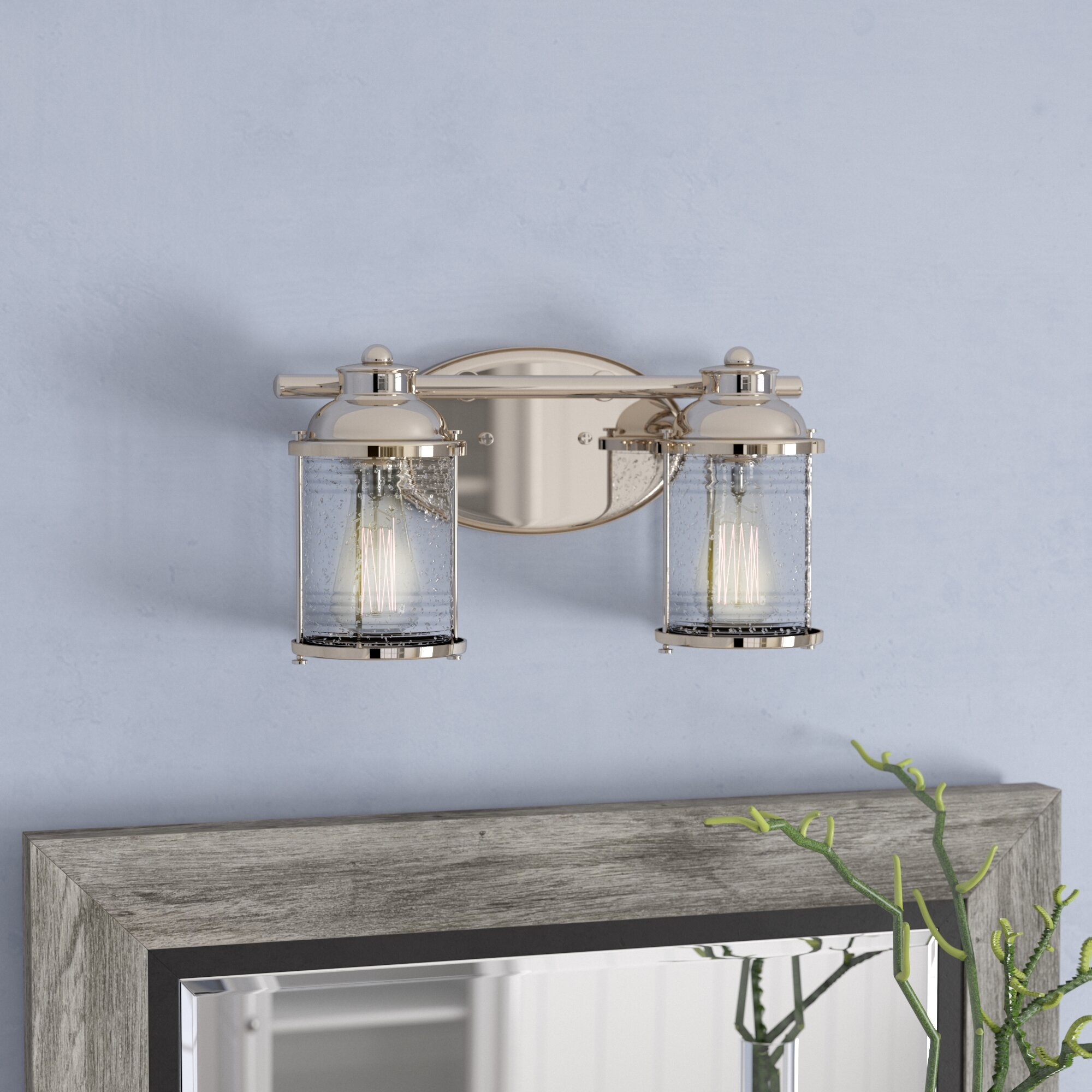 Beachcrest Home Galsworthy 2 Light Vanity Light Reviews Wayfair
