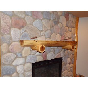Fireplace Shelf Mantel In , Without Support Logs By North Shore Log Company