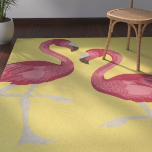 Brianna Handmade Yellow Indoor/Outdoor Area Rug