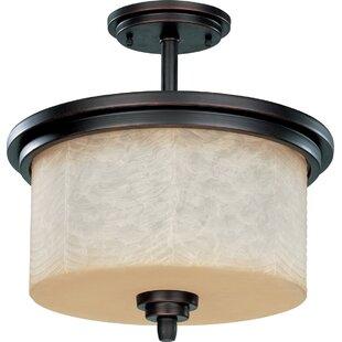 Everalda3-Light Semi Flush Mount by Winston Porter