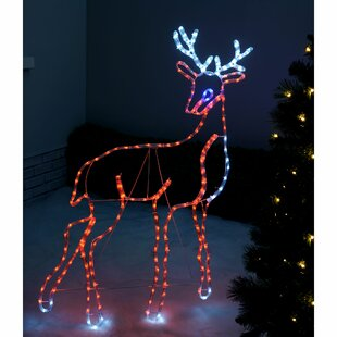 Stag Reindeer Lighted Display Image