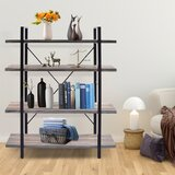 Franz 54.7 H x 41.3 W Metal Etagere Bookcase by 17 Stories