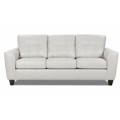 Magallon Leather Sofa Bed Wrought Studio? Upholstery Color: Cream