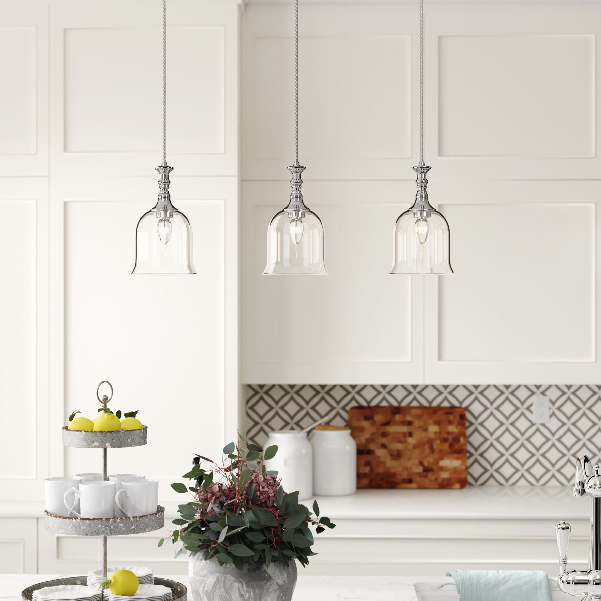 Image of: 3 Light Kitchen Island Pendant Lighting You Ll Love In 2020 Wayfair
