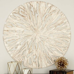 Striking Carved Wood Panel Wall Décor