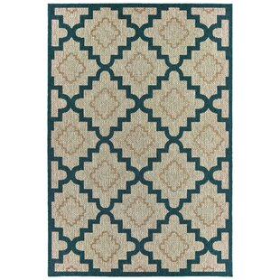 Berryville Trellis Gray/Blue/Ivory Indoor/Outdoor Area Rug
