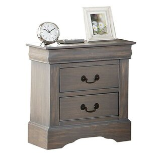 Melina Wooden 2 Drawer Nightstand